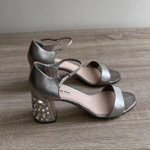Miu Miu - Crystal- Embellished Sandals